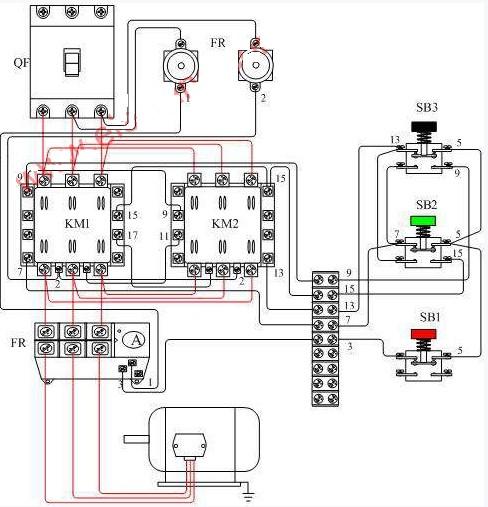 电动机正反转控制接线图
