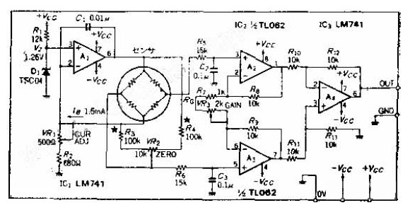 电桥式的传感器驱动电路图