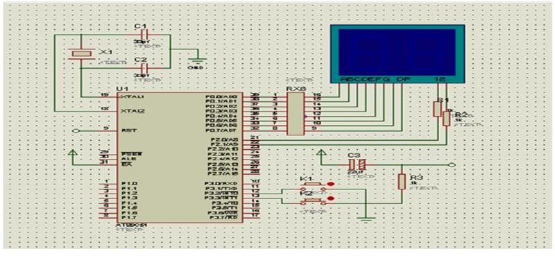 摘要:本文通过单片机控制简易计数器的分析与研究,进行了硬件电路的设计及软件程序的设计,通过使用专业绘制电路图的软件和程序编译软件,不断进行测试和调试,基本完成系统的仿真。   1 系统描述   本系统利用AT89C51 单片机来制作一个手动计数器,在AT89C51 单片机的P3.
