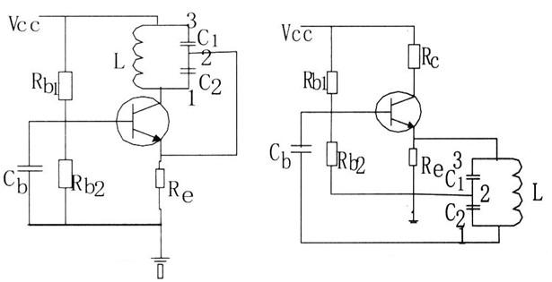 两个电容三点式的振荡电路图