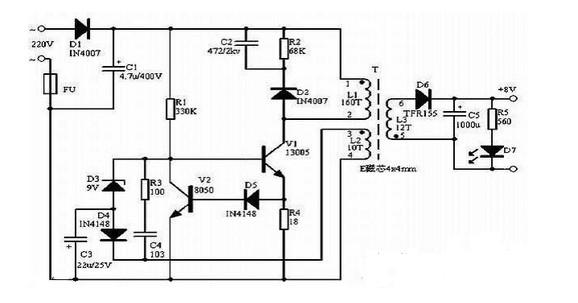 文中介绍的是一种一种家用开关电源工作原理图解, 从交流电网输入、直流输出的全过程,输入滤波器:其作用是将电网存在的杂波过滤,同时也阻碍本机产生的杂波反馈到公共电网。 整流与滤波:将电网交流电源直接整流为较平滑的直流电,以供下一级变换。
