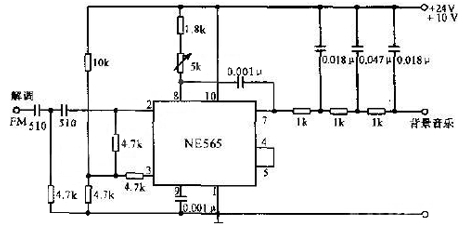 本文介绍了8ca解调器电路图:该电路中压控振荡器ne