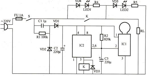 延时时间内多次触发由ne555组成的单稳延时电路工作