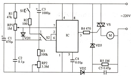220v电机调频接线图
