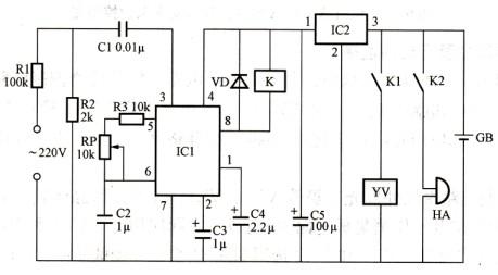该电路能在柴油发电机转速失去控制,且超过规定最高使用转速时,自动