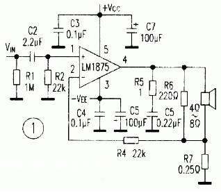 基于lm1875的btl电路设计原理【库ic网(qooic)】