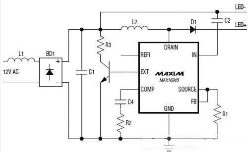 保护,避免内部开关mosfet在led串开路或led串电压
