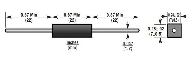 二极管    hvm系列高压二极管主要用于微波炉,激光器,电压倍增电路