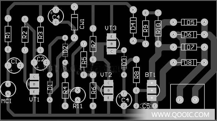 灯光控制:分立元件声光控楼梯延迟开关电路(1)