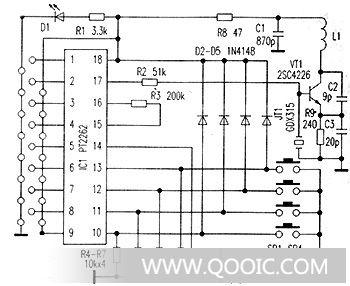 这是发射机等效电路图