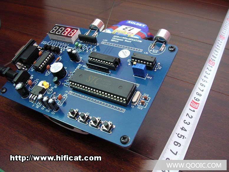 如果能将超声波接收电路用金属壳屏蔽起来,那可以大大提高抗干扰能力.