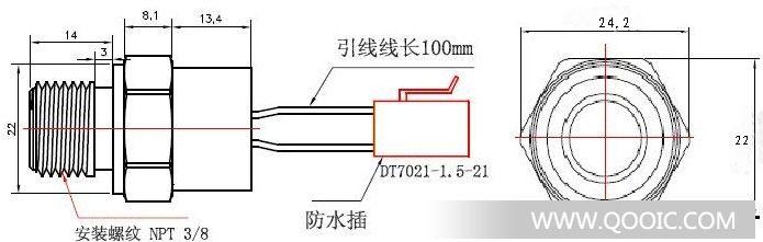 SX-B2水温温度控制开关 利用国外优质碟形双金属片作温度采样元件,将水温开关安装在水箱温度敏感部位,动态采集水箱内水的温度变化,通过碟形金属片在温度下产生变形,并在温度点暂态跳动的原理,配合机构的作用,使两触点迅速接通,启动风扇,冷却水箱内的水,对汽车发动机超到安全保护作用。 1. 使用条件  相对湿度在+20环境下达95%  大气压力86-106Kpa  工作位置: 任意 2. 技术参数