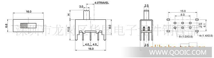 是否提供加工定制:是 类型:双极三位 额定发热电流:0。3(A) 机械寿命:50000(次) 产品认证:ROHS 用途:电子产品 产品尺寸如下所示: 使用温度范围 Temperature 耐压 Withstand Voltage AC500V for 1 min 额定负荷 Rated Load 插拔力 Actuating Force 接触电阻 Contact Resistance 30m ohm max 寿命 Life 5,000 cycles 绝缘电阻 Insulation Rsistance 100M