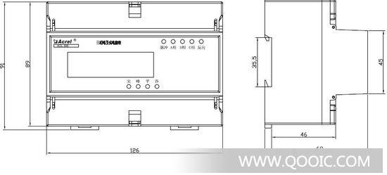 供应安科瑞三相电子式电能表dtsf1352