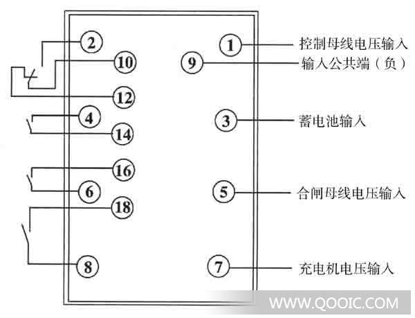ZJ-5型中间继电器 1 用途 ZJ5型中间继电器 ( 以下简称继电器 ) 用于交流操作继电保护装置中,作为辅助继电器,直接接于仪用变流器次级回路中,并由其它继电器触点控制。 2 结构与工作原理 继电器采用固定式壳体,其外形尺寸、背后端子及安装开孔图见附录4。背后端子接线图见图1。 图1 背后端子接线图 继电器是电磁式阀型的动片连着一块弯板,弯板末端固定着顶板,当动铁吸合时顶板推动动接触片,于是动合触点闭合。继电器的线圈经过整流块接入饱和变流器次级回路中,饱和变流器回路中接一个电容器以减低电压峰值。 继电