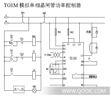 单相可控硅调功器电路图