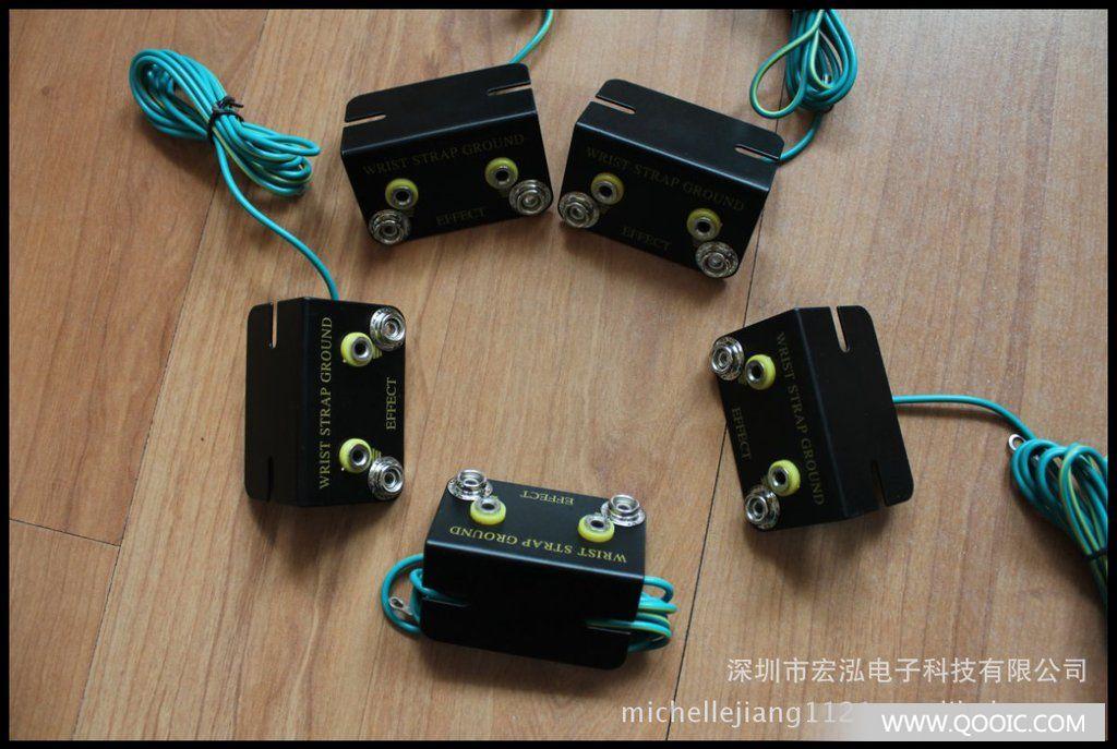 大量批发防静电手腕带接地线插座 绿黄线 其他连接器