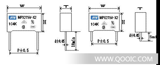抑制电源电磁干扰电容器x2电容