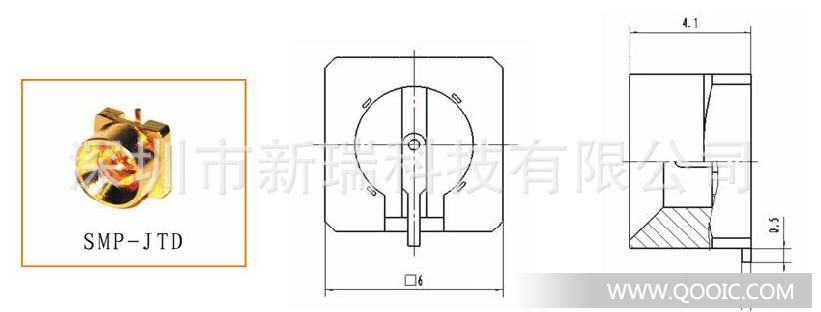 smp-jtd射频(rf)同轴连接器