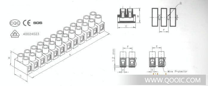 供应贯通式接线端子 端子