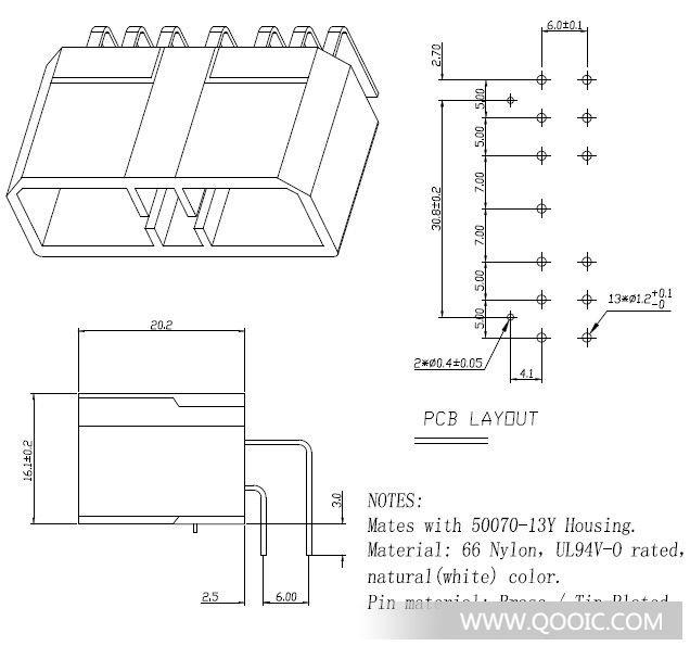 海马13p弯针(直针)jd00202-13a汽车音响连接器