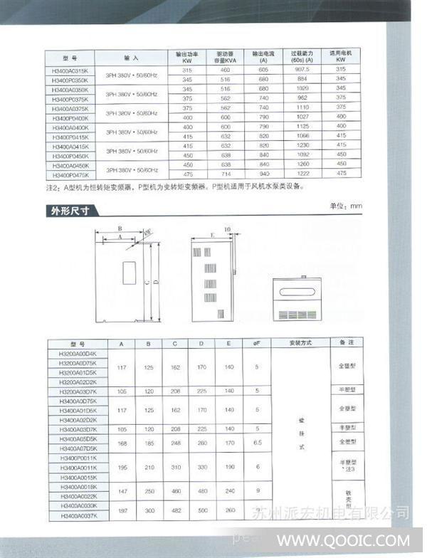 提供上海众辰变频器-h3000系列 通用型变频器 功率:0.