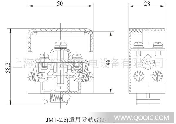 JM1-2.5、JM1-2.5D、JM1-2.5D1型小母线接线架主要适用于交流至660V(50Hz或60Hz)FHIYGCF 440V的继电保护屏、直流控制屏等电气设备中,用以架设电流不大于120A的小母线。JM1-2.5、2.5D型小母线接线架两侧各有两个M4组合螺钉,一般可分别压接四根2.5mm2以及下导线,用来取得交流或直流电源。 绝缘体采用热塑阻燃工程塑料制造,绝缘性能好,机械强度高,耐高温(可在120摄氏度高温环境下长期稳定工作),阻燃自熄性能良好,达到美国UL94-V0级标准.