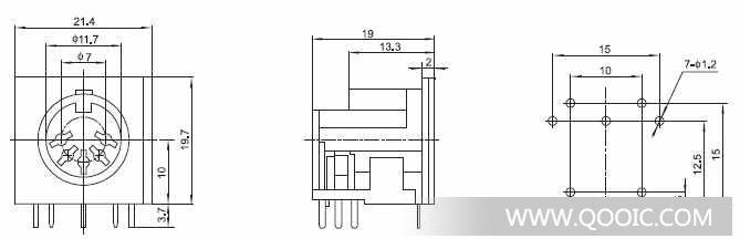 接线端子15edg-3.81图纸参数