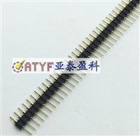 圆孔排针 1*40P单排 镀金环保 排针 2.54MM间距
